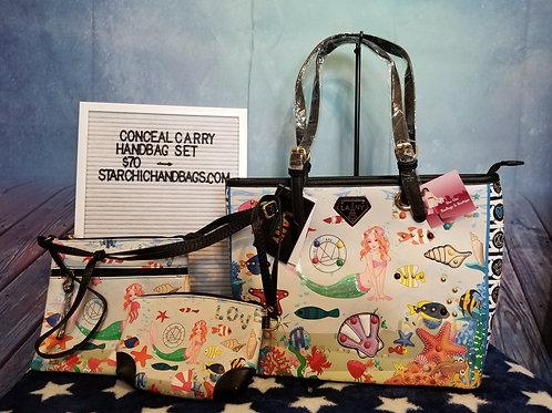 3 in 1 Mermaid Conceal Carry Handbag Set