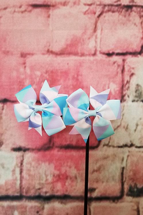 Pastel colors Bow Set