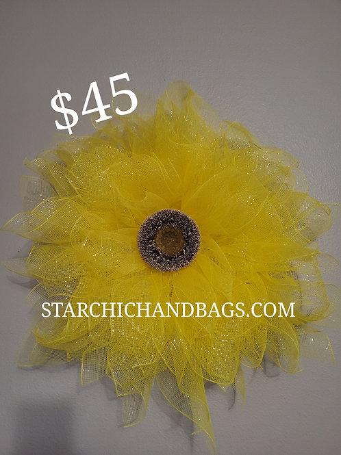 Handmade Yellow Sunflower Wreath