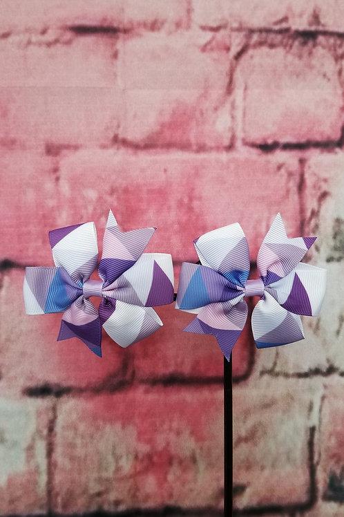 Purple & lavender Mult-color Bow Set