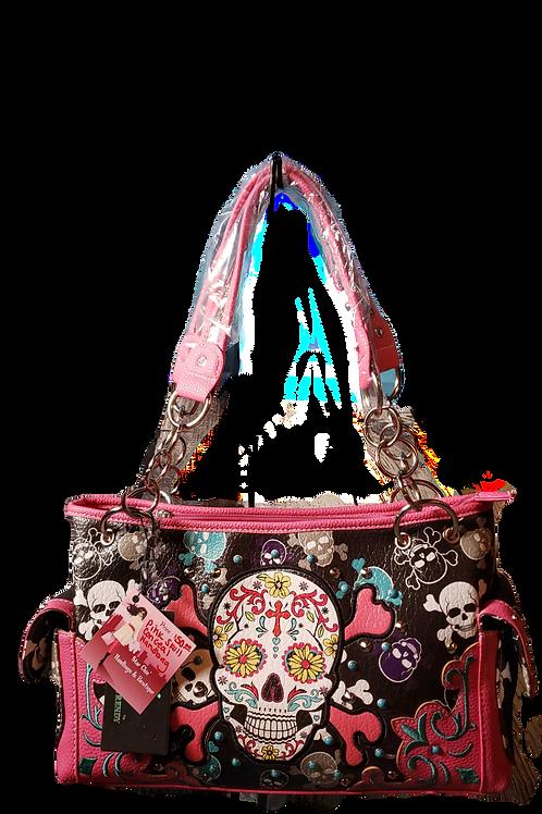 Pink Sugar Skull Handbag