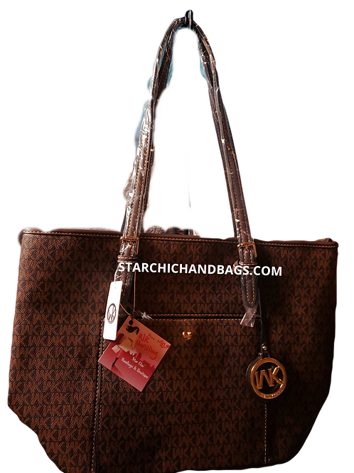WK Brown Designer Inspired Handbag