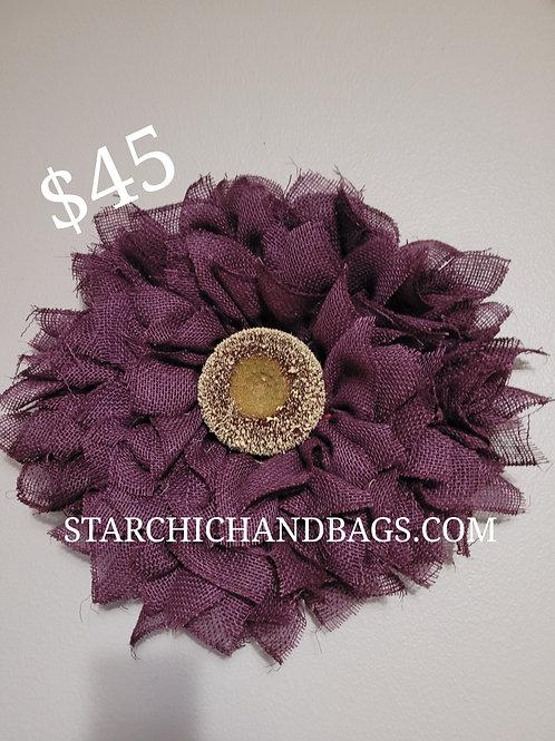 Handmade Purple Sunflower