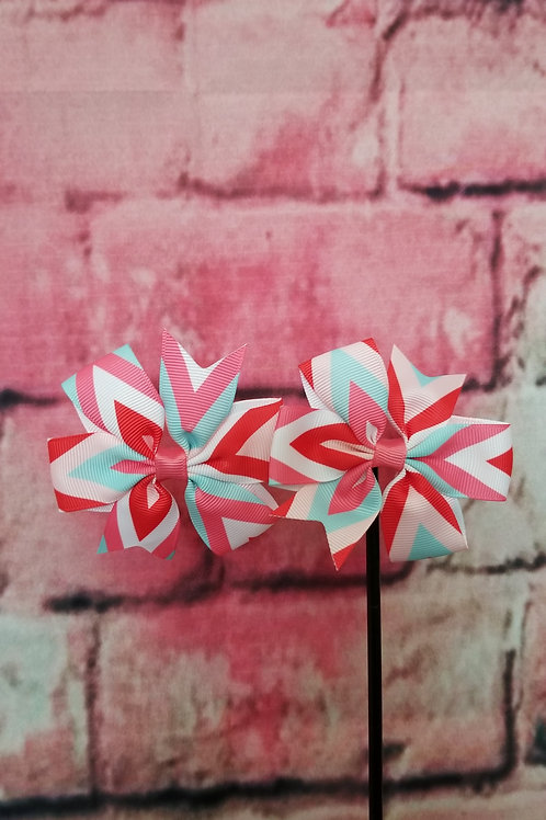 Pink & Red Multi-color Bow Set