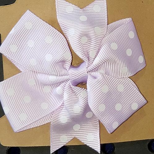 Light Purple Polka dot Hair Clip