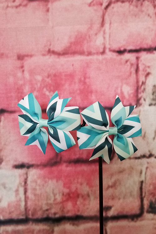Teal Multi-color Bow Set