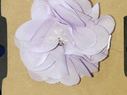 Jewel Center Lavender hair clip