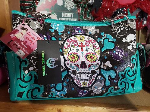 Turq. Sugar Skull Conceal Carry