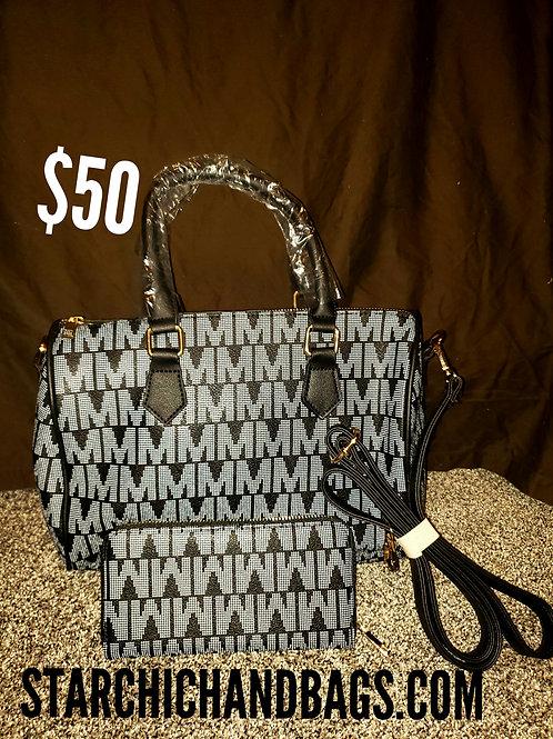 2 In1 Modern Classic Handbag Black