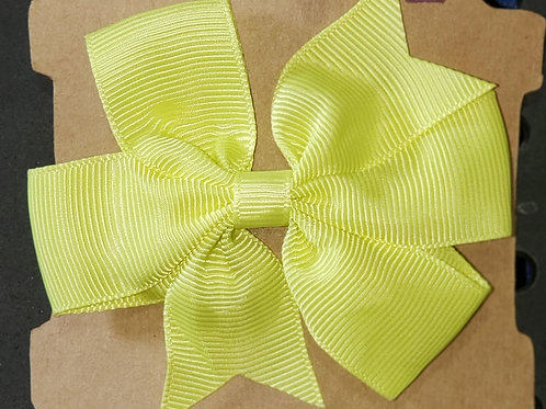 Yellow Bow with Alligator Clip
