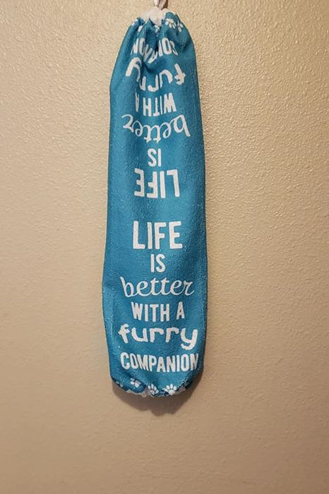 Life is better with a furry companion Bag Holder