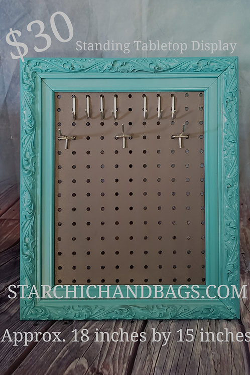 Turquoise and Gray Tabletop Display
