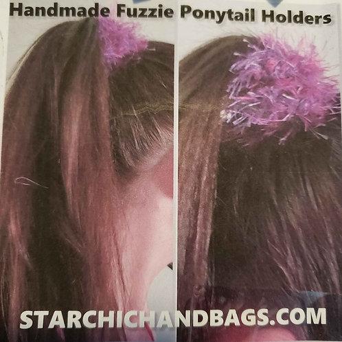 4 Fuzzie Ponytail Holders