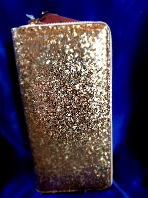 Gold Single Zipper Wallet