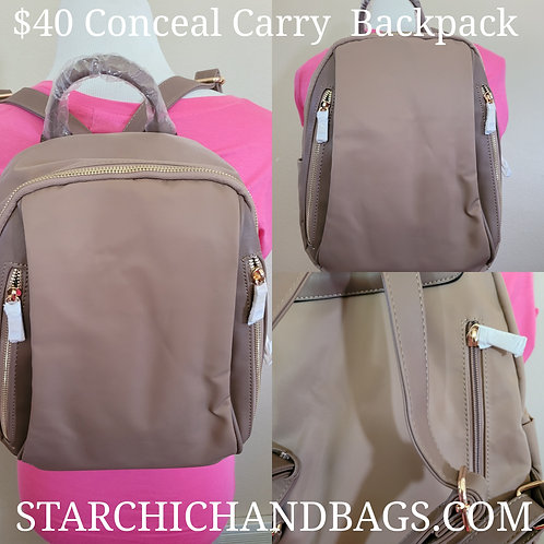 FASHION LIGHT WEIGHT CANVAS BACKPACK TAUPE