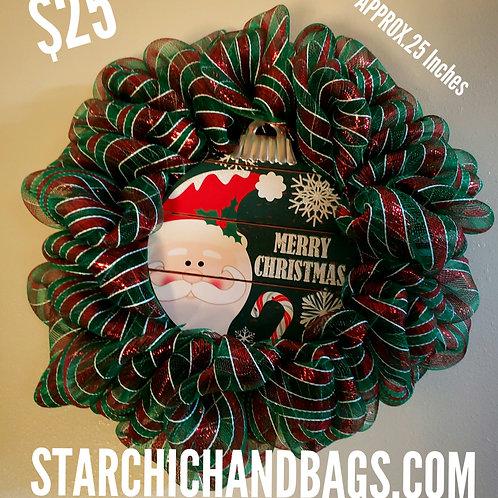 Handmade Merry Christmas Wreath