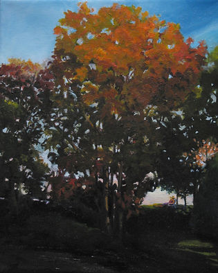 northfork painting fall tree oil