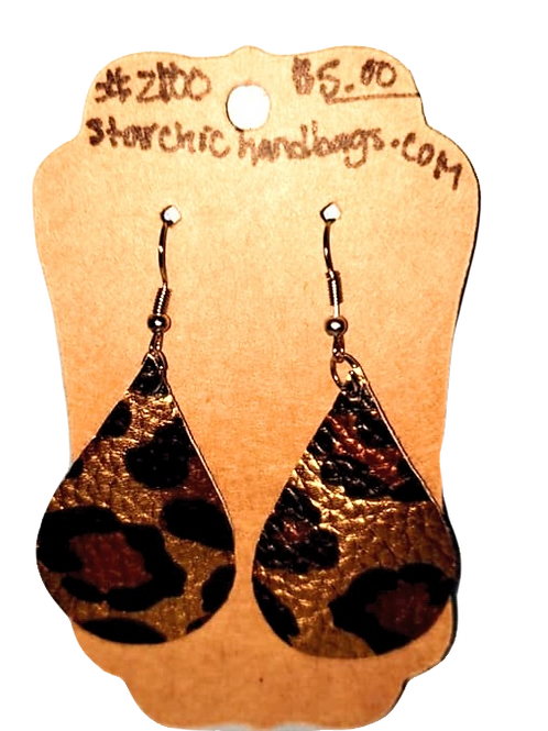 Black Leopard Earrings