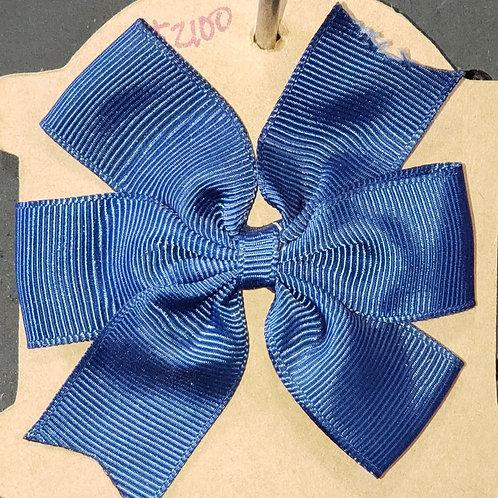 Navy Blue Hair Bow with Clip