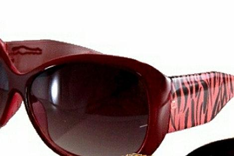Pink/Red  Zebra Striped Sunglasses