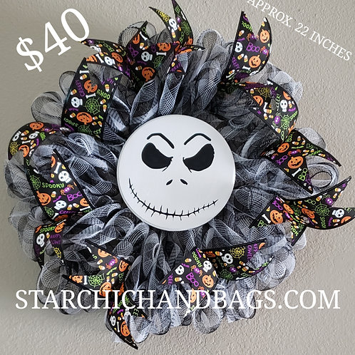 Jack Skellington Halloween Wreath