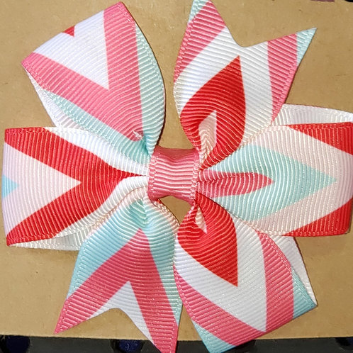 Mutli color Stripe Hair Bow with Clip