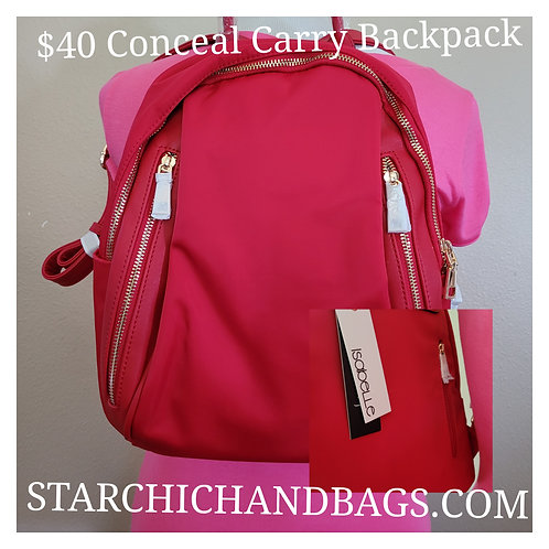 FASHION LIGHT WEIGHT CANVAS BACKPACK~RED