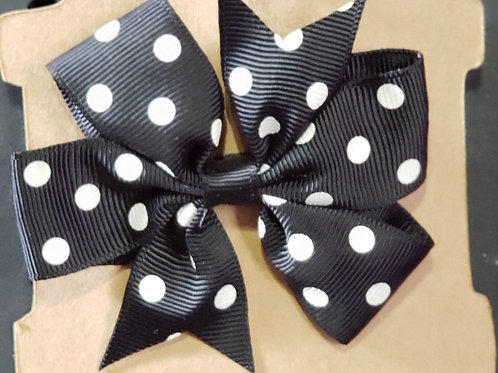 Black and White Polka dot Alligator Clip