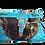 Thumbnail: Western Blue Camouflage Buckle Rhinestone Handbag
