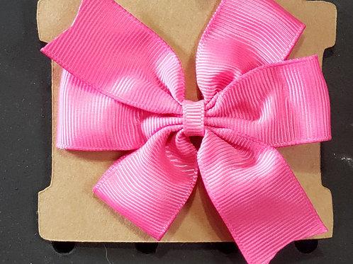 Pink Alligator Clip Bow