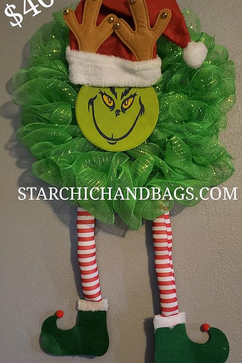 Grinch Holiday Wreath