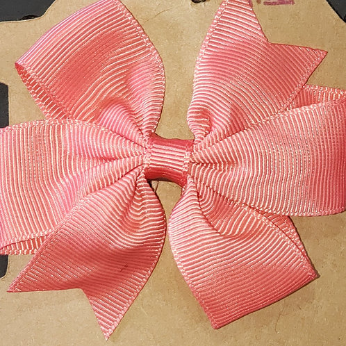 Peach Bow Hair Clip