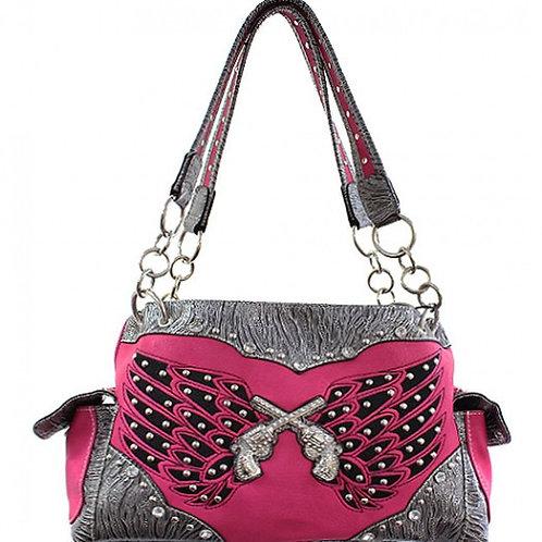 Pink Wings Pistol Handbag