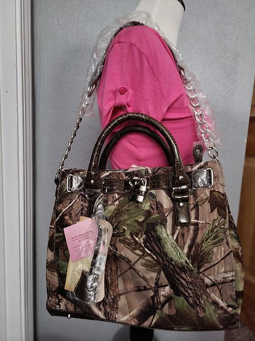 Camo Fashion Lock Handbag
