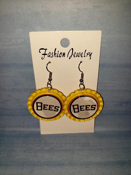 Bees Bottle Cap Earrings