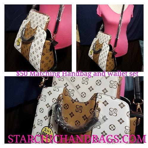 Fashion Print Handbag & Wallet