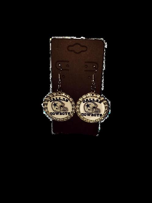 Cowboys Bottle Cap Earrings