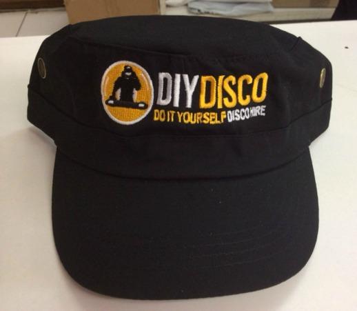 Monogrammed military cap