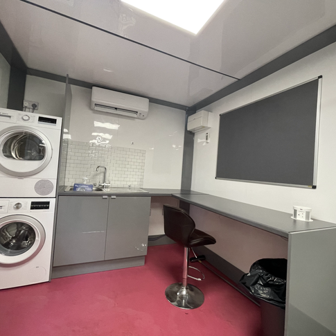 Washer Dryer and Prep Area