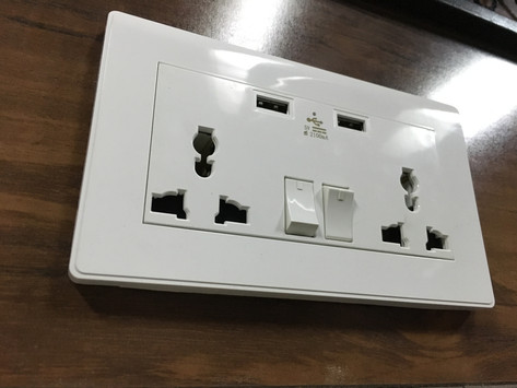 Uk & European sockets with usb chargers