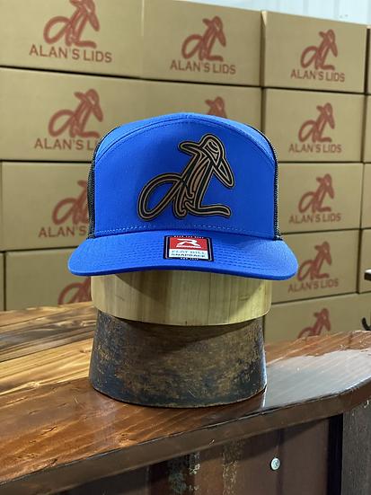 AL Logo Leather Patch Cap (blue/black)