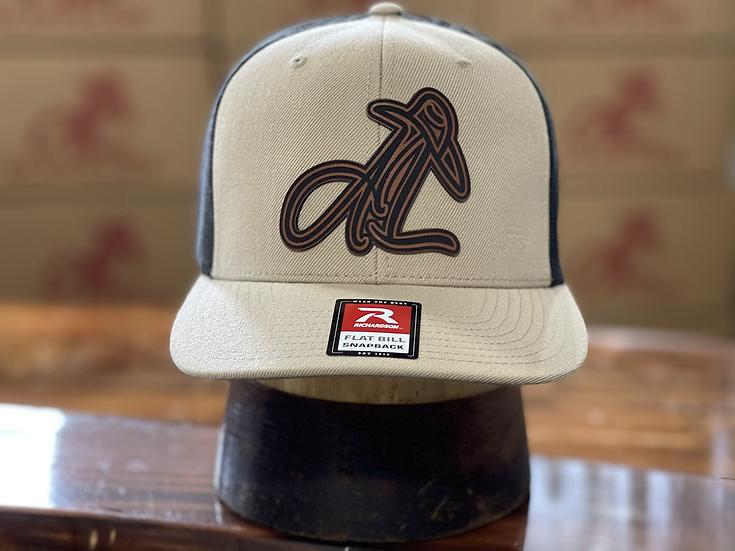 AL Logo Leather Patch ( Tan/ Black)