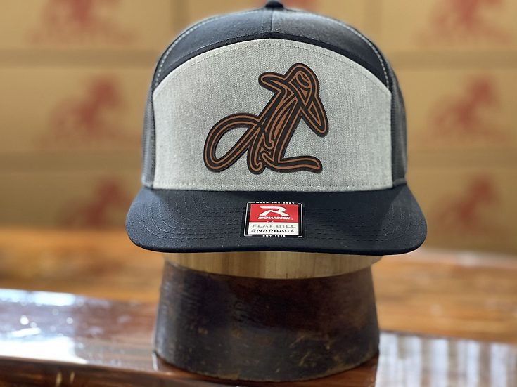 AL Logo Leather Patch (Charcoal/Black)
