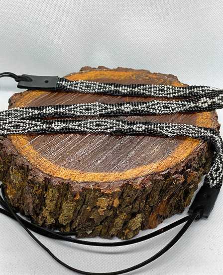 Beaded hat band #024