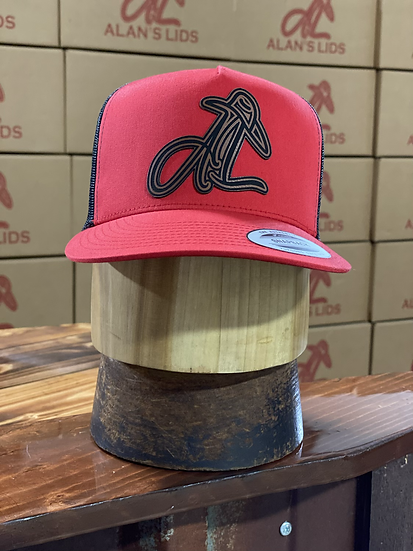AL Logo Leather Patch Cap (red/black)