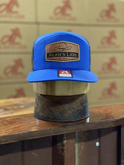 AL Minnick Leather Patch Cap (blue/black)