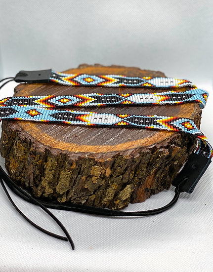 Beaded hat band #012
