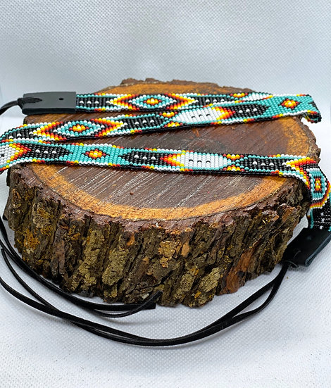 Beaded hat band #027