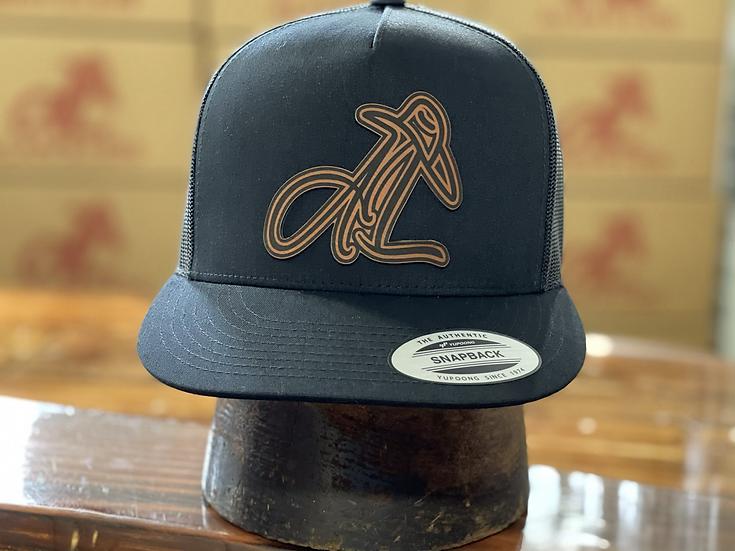 AL Logo Leather Patch (Black/Black)