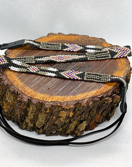 Beaded hat band #026
